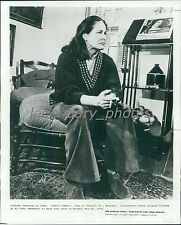 1974 Actress Colleen Dewhurst at Home Original News Service Photo