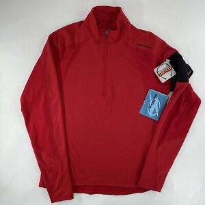 Sugoi Mens Large Bike Cycling Jersey 1/2 Zip Long Sleeve Red Wired NEW
