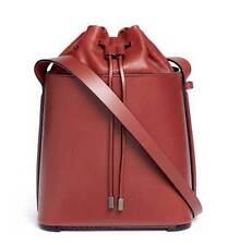 3.1 Phillip Lim Women's Hana Leather Drawstring Bucket Bag, Brick Red, MSRP $925