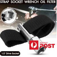 "Car Truck 1/2""Drive Socket Adjustable Strap Socket Wrench Oil Filter Remove Tool"