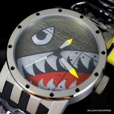 Invicta DNA Bomber Fighter Plane 46mm Shark Gray Black Titanium Watch New