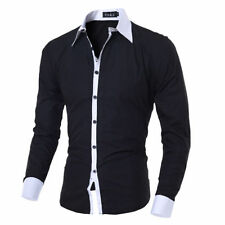 Unbranded Cotton Blend Button-Front Casual Shirts for Men
