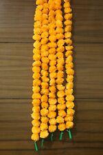 Set of 5 Pcs Marigold Flower Garlands 5 Feet Long Artificial Home Decoration