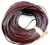 Real Round Leather Cord 100% ,Genuine Bracelet Necklace Jewelry Making 10M 100M