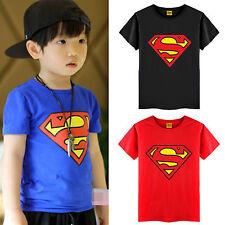Enfants Garçons Tout-Petit Superman Spiderman Été Ras Du Cou T-Shirt Manches