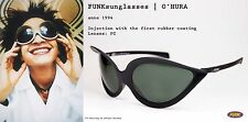 Retro Vintage FUNK Germany Black Rubber CoatingSunglasses O 'Hura 1994 Eyewear