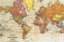Postcard World Map Standford's. Depicting World in 1929 NrMINT Modern Repro