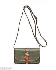 NWT $99 Patricia Nash Italian Leather Torri crossbody handbag Sage + Dust bag