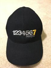 "Freshjive Baseball Hat Cap Black ""1234567"" Size S/M Flexseam Acrylic Wool"
