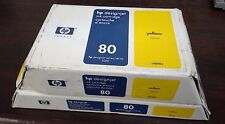 GENUINE NEW HP SET OF 2 80 YELLOW  C4893A COMBO PACK C4848A C4823A 350ml DJ 1000