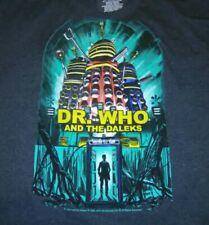 Dr Who & The Daleks T-shirt 2014 Dark Blue Xl British Science Fiction Film