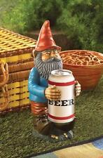 Beer can beverage drink holder lawn garden yard Gnome statue holder sculpture