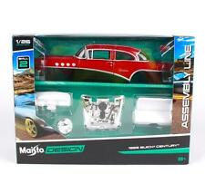 Maisto 1:24 1955 Buick CENTURY Assembly DIY Racing Car Diecast MODEL KITS