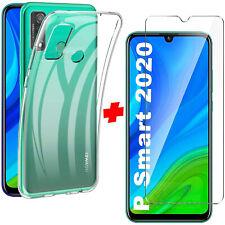 Cover Per Huawei P Smart 2020 + Pellicola Vetro Temperato Custodia Silicone Slim