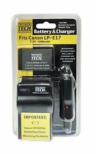 LP-E17 Battery + Charger for Canon EOS T6i, EOS 750D, EOS T6s, EOS 760, X8i,