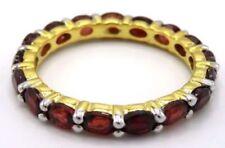 Markenlose ovale Granate Ringe mit echten Edelsteinen
