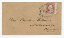 1850s #11 sheet margin single Norwich & Worcester RR cover [OZ.351]