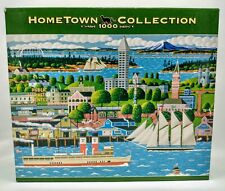 Hometown Collection Seattle Boats Bay Public Market Heronim 1000 Pc Puzzle Rare!