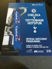 Chelsea V Tottenham Hotspur 2015 League Cup Final Wembley Soccer Programme