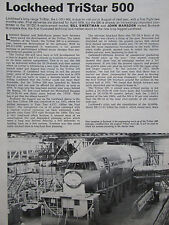 6/1977 ARTICLE 6 PAGES LOCKHEED L-1011-500 TRISTAR AIRLINER CUTAWAY ECORCHE