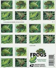 FROGS STAMP BOOKLET -- USA #5395-5398B FOREVER 2019