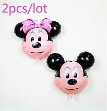 "2 x 26"" 67cm Mickey and Minnie mouse head balloons foil mylar balloon  clearance"