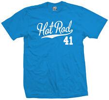Hot Rod 41 Script T-Shirt - 1941 Custom Pickup Coupe Rat Race Car - All Colors