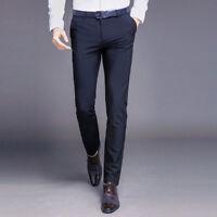 Pantalones de hombre Nuevos pantalones de moda Clásico Longitud completa