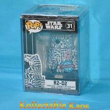 Star Wars - R2-D2 (Futura) Pop! Vinyl Figure with Pop! Protector (RS) #31