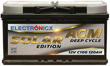 Electronicx Solar Edition Batterie AGM 120AH 12V Solar Versorgung Solarbatterie