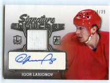 2016 ENSHRINED SIGNATURE SHOWCASE JERSEY AUTO IGOR LARIONOV 18/35 WINGS *44845