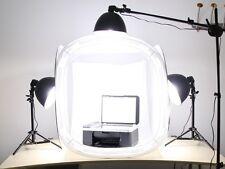 "Pro studio in a box still life photography 3- head lighting 32"" tent & backdrops"