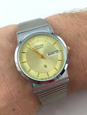 OROLOGIO CITIZEN 5500 JAPAN WATCH VINTAGE NEW OLD STOCK DAY DATE UNISEX 32MM