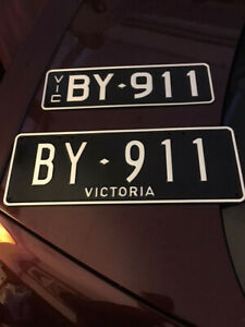 Offers Welcome- RARE  911 VICTORIAN LICENCE NUMBER PLATE CUSTOM FOR SALE VIC