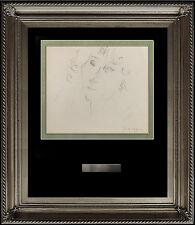 JULES PASCIN Original INK DRAWING Hand Signed Artwork Female Portrait Authentic