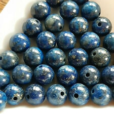 6mm Lapis Lazuli with Pyrite Inclusions Round Beads (10) Ten Beads