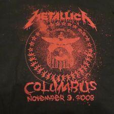 2008 Metallica Columbus OH 11/9/2008 tour concert shirt Size LG
