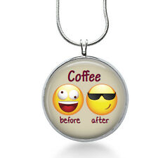 Coffee Before and After Pendant Necklace, Funny Pendant, Coffee ,gifts for women
