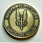 SAS SPECIAL AIR SERVICE COMMEMORATIVE COIN / MEDAL WHO DARES WINS 40mm WITH CASE