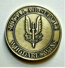 More details for sas special air service commemorative coin / medal who dares wins 40mm with case