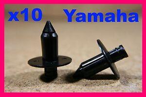 For YAMAHA 10 Motorbike motor cycle bike Plastic Fairing Push Rivet Clips 7mm