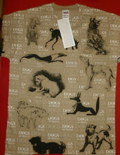 DOG T-shirt. Vintage New.Dogs in Art History.M. L. XL.XXL.MET.MoMA.Museum Store