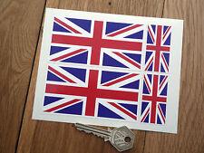 UNION JACK Flag Car Motorcycle STICKER Set Great Britain UK of GB & NI British
