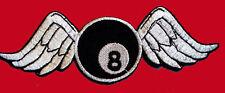 BROKEN WINGS 8 BALL EMBROIDERED JACKET VEST BIKER PATCH