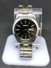 Seiko Mens Sne047 Two Tone Solar Analog Day Date Watch #46