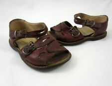 Everlite Toddler Baby Buckle Sandals Shoes Brown Leather Size 5 Vintage 1950s