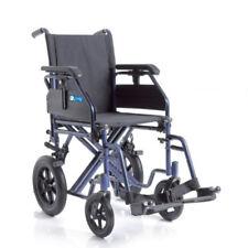 Sedia A Rotelle Pieghevole Da Transito Carrozzina per Disabili Doppia Crociera