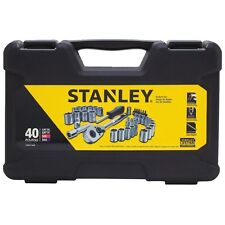Stanley Mechanics Tool Set 40 Piece Wrenches New Case Kit Sockets Ratchet Tools