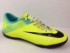 Nike Mens 8 Med Mercurial Victory ll Ic 442015-754 Yellow Aqua Blue Soccer Shoes