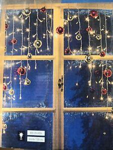Lichtervorhang Lichterkette Fenster Kugeln Weihnachtsbeleuchtung Deko Advent